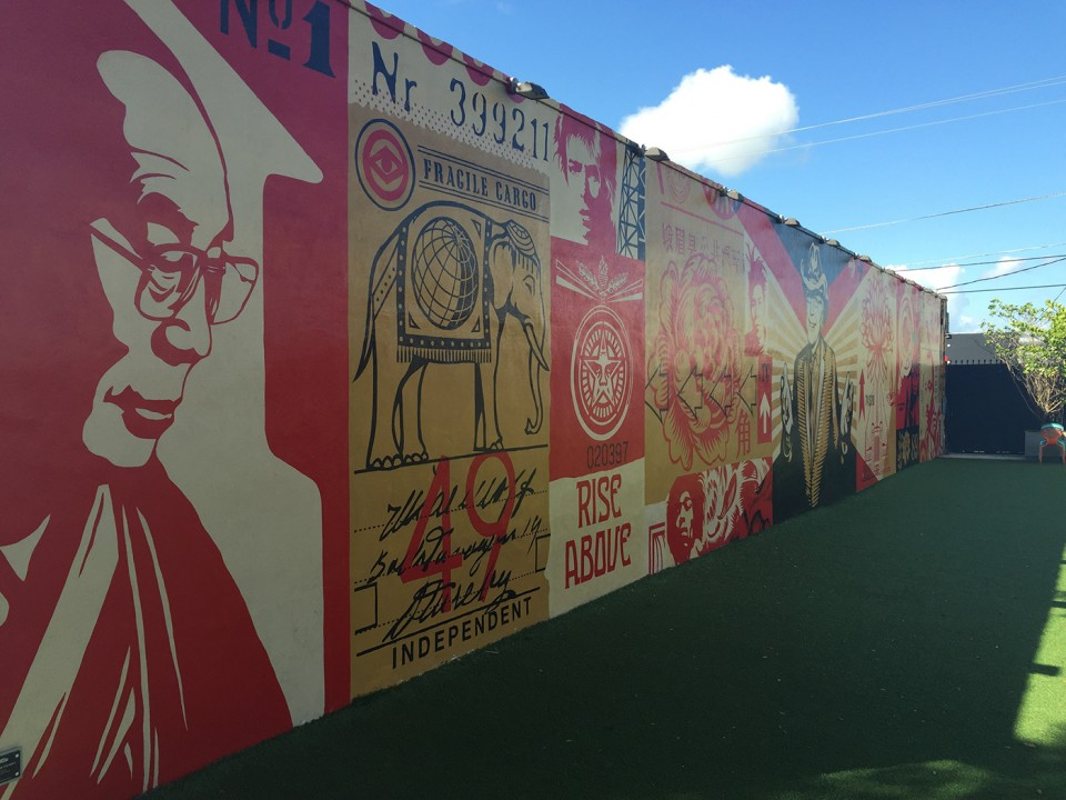 Shepard Fairey Graffiti at Wynwood Walls Miami
