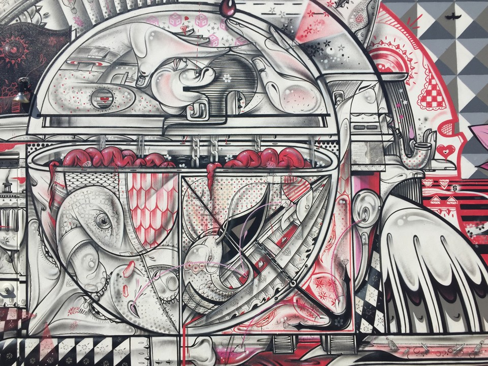 How & Nosm Graffiti Art at Wynwood Walls Miami