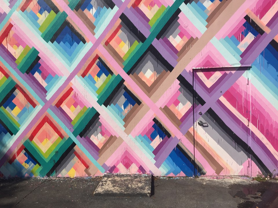 Maya Hayuk Graffiti Art at Wynwood Walls Miami